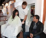 Mario Lopez enjoys the #DoveColor Care Salon at the Sundance Film Festival.