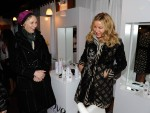 Jane Lynch and Jennifer Coolidge share a laugh at the #DoveColor Care Salon at the Sundance Film Festival.